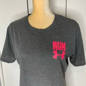 Under Armour Tops - Under Armour Gray Run T-shirt. The Instance GO